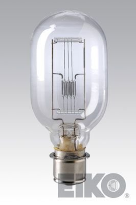 EiKO 01600 Model DRB/DRC Projector Light Bulb, 120 Voltage Rating, 1000 Watts, 8.33 Amperes, 28000 Lumens, Medium Prefocus Flanged Single Contact (P28s) Base, T-14 Bulb Type, C-13 Filament, 25 Rated Life