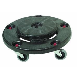 Rubbermaid FG264000BLA Container Dolly, 250 lb, Fits 55 gal.