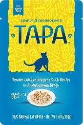 Tapa 855009 Chicken Breast & Duck Recipe Cat Food Toppers, One Size