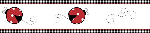 Sweet Jojo Designs Red and White Polka Dot Little Ladybug Baby and Children's Wall Border ()