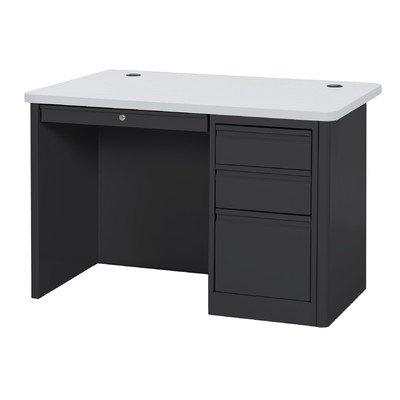 Sandusky Lee SP904830-BGN 900 Series Single Pedestal Heavy Duty Teachers Desk, 30