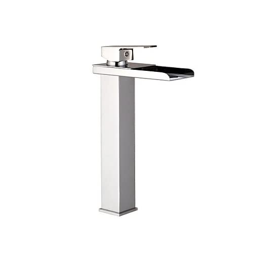 Wu0026P Tall Chrome Waterfall Bathroom Sink Faucet Opening Long Bath, Basin  Faucet Spout Outlet