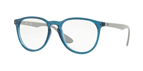 Ray-Ban Women's RX7046 Eyeglasses Trasparent Blue 51mm by Ray-Ban