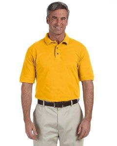 Ringspun Pique Shirt (Harriton mens 6 oz. Ringspun Cotton Pique Short-Sleeve Polo(M200)-SUNRAY YELLOW-S)