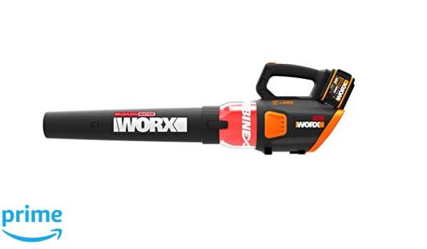 Worx WG584E.9 - Soplador de hojas (40 V, 2 x 20 V, sin ...