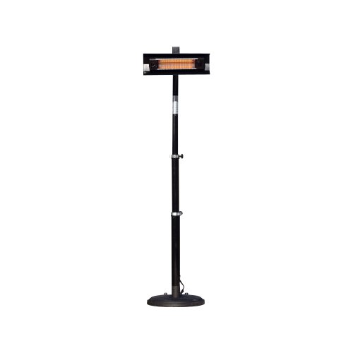Fire Sense Telescoping Infrared Indoor/Outdoor Patio Heater, Black (Outdoor Firesense Patio Heater)