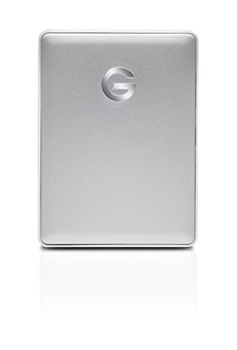 G-Technology 4TB G-DRIVE Mobile USB-C (USB 3.1 Gen 1) Portable External Hard Drive, Silver- 0G10348