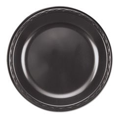 - Elite Laminated Foam Plates 10 1/4 Dia Black Round 125/ Pack 4 Pack/carton
