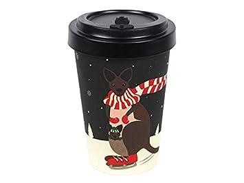 Coffee To Go Becher Aus Bambus Mit Schraubdeckel Hitzeschutz Aus