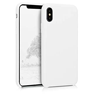 kwmobile TPU Silicone Case Compatible with Apple iPhone X - Soft Flexible Rubber Protective Cover - White