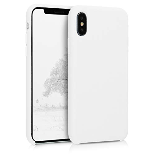 (kwmobile TPU Silicone Case for Apple iPhone X - Soft Flexible Rubber Protective Cover - White)