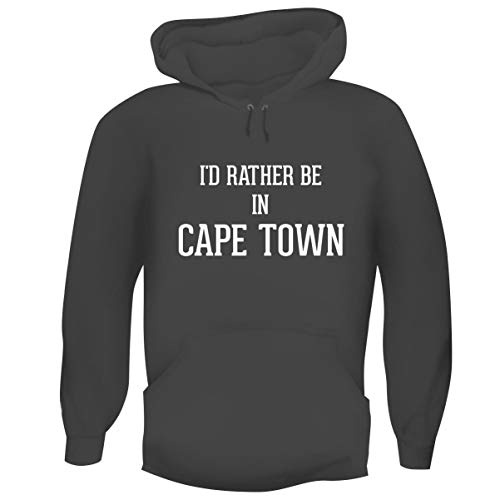 University Of Cape Town South Africa - One Legging it Around I'd Rather Be in Cape Town - Hashtag Men's Funny Soft Adult Hoodie Pullover, Grey, X-Large