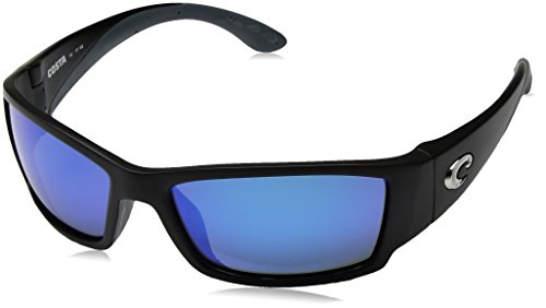 Costa del Mar Unisex-Adult Corbina CB 11 OBMGLP Polarized Iridium Wrap Sunglasses, Black, 61.2 - Sunglasses Corbina Costa