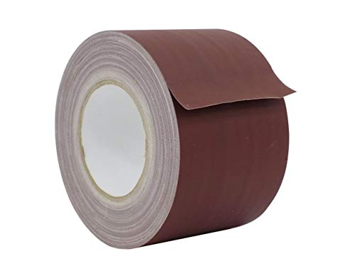 WOD CGT-80 Brown Gaffer Tape Low Gloss Finish Film, Residue Free, Non Reflective Gaffer, Better than Duct Tape (Available in Multiple Sizes & Colors): 4 in. X 60 Yards (Pack of 1)