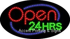 Open 24 Hrs Flashing & Animated LED Sign (High Impact, Energy Efficient)