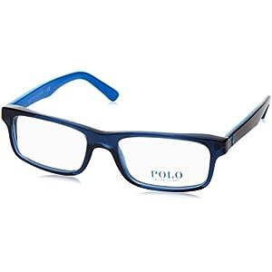 Polo PH2140 Eyeglass Frames 5563-54 - Trasparent Blue PH2140-5563-54