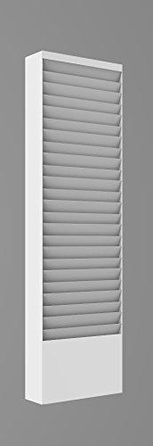 FixtureDisplays 20-Tier Wall Cubicle Mount File Holder Literature Display Letter Slot Workorder Holder Letter Sizes 8.5x11 Steel Organizer 119985-WHITE!