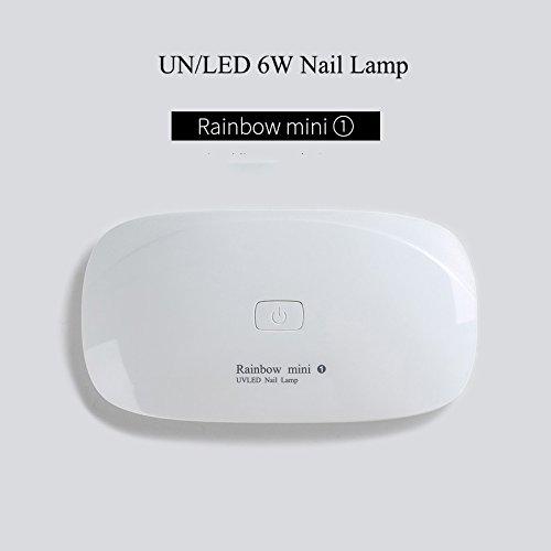 Mini UV LED Light Dryer UV Lamp for UV LED Gel/UV Resin Glues/Gel Nail Polish Compact Foldable 6W with USB Connection, Pain Free Mode, Synchronization 45s / 60s