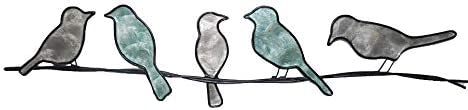 WorkingWonders Birds on a Wire Metal Wall Art – Fair Trade, Hand-Painted, 29 inches Long x 1 inch Wide x 6 inches high