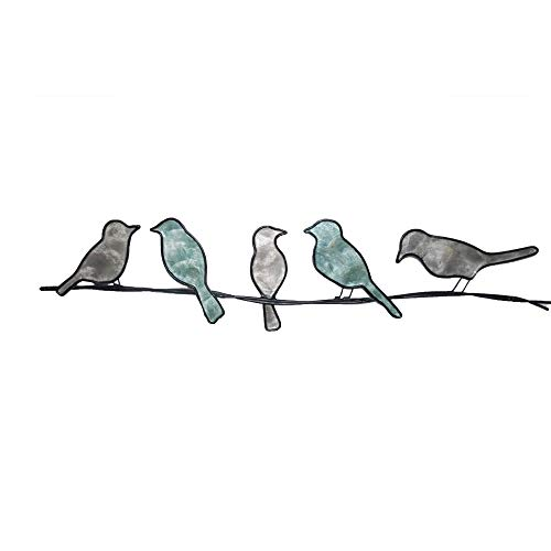 WorkingWonders Birds on a Wire Metal Wall Art - Fair Trade, Hand-Painted, 29 inches Long x 1 inch Wide x 6 inches high]()