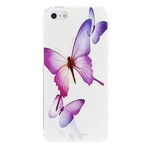 HP-Mariposas púrpura del caso del patrón de la PC dura para el iPhone 5/5S