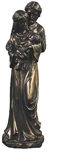Holy Family Bronze - Veronese Collection Holy Family 16 Inch Bronze Statue