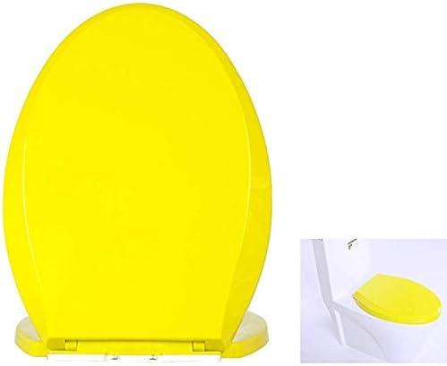 Andou Nk 便座 - ソフトクローズ付きクイックリリースヒンジ - 標準/トップ修正に適し (Color : Yellow)