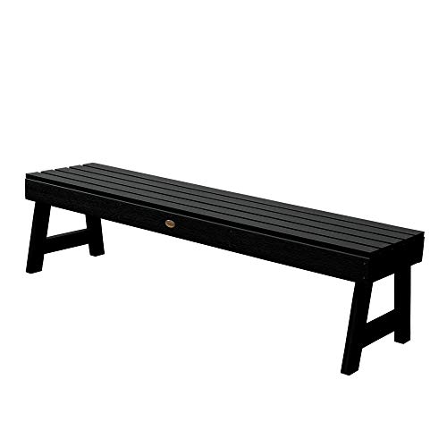 Highwood Weatherly Backless Bench, 5-Feet, Black