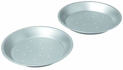 Chicago Metallic Commercial II Traditional Uncoated 9-Inch Perforated Pie Pans, Set of 2