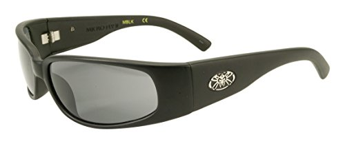Black Flys Micro Fly 2 Wrap Sunglasses,Matte Black,60 mm