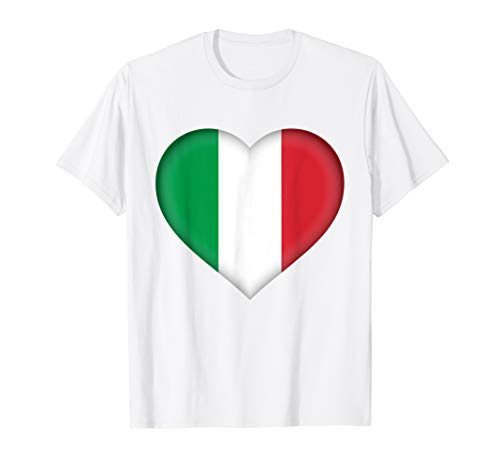 - I Love Italy T-Shirt | Italian Flag Heart Outfit
