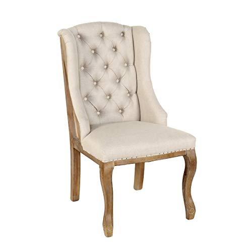 Lafayette Wingback Chair Beige (Chair Dining Lafayette Room)