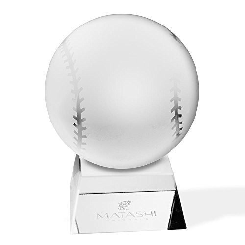 - Matashi Crystal Baseball Etched Paperweight with Stand Decorative Ball Ornament for Awards, Trophy, Desk Accessories Showpiece. Perfect Choice for Home Decor Gifts, Corporate Office Gift with Gift Box