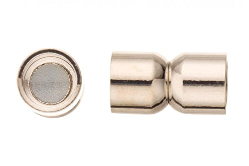 c Jewelry Clasps - Platinum Finished Copper 8x14mm (8 Mm Magnetic Clasps)