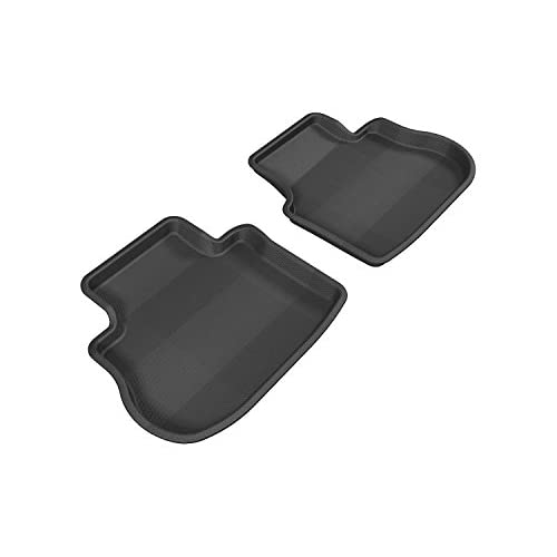 3D MAXpider Second Row Custom Fit All-Weather Floor Mat for Select Hyundai Veloster Models Black Kagu Rubber