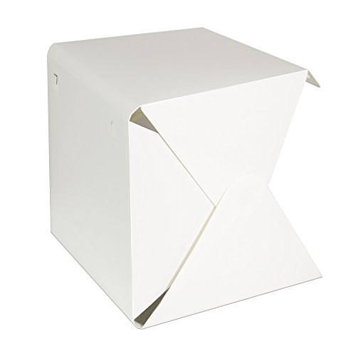 LimoStudio LED Light Portable Foldable Mini Photo Shooting Box Tent, Table Top Small Lighting Box Kit, USB Charging Cable, Commercial Product Shooting Photo Booth & Cleaning Cloth, AGG688V2