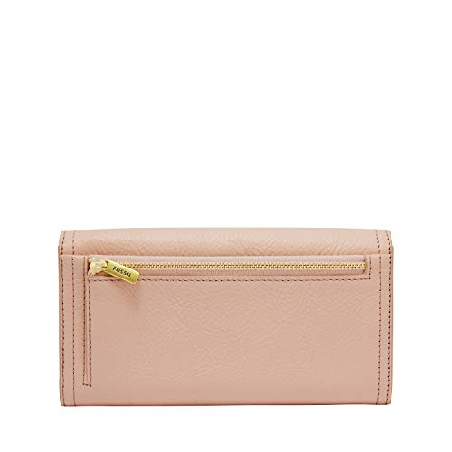Fossil Women's Logan RFID-Blocking Leather Flap Clutch Wallet 4