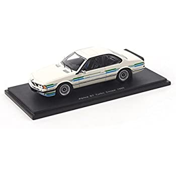 1985 BMW Alpina B7 Turbo Coupe in White Model Car in 1:43 Scale by Spark