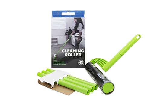 Leo Cleaning Roller with extendable Handle (with 25 Sheets) for Pet's Hair Removal & Household Cleaning Great for Dog and Cat Hair