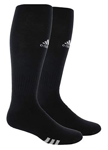 adidas Unisex Rivalry Field OTC Sock (2-Pair), Black/White, 5-8.5