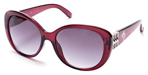 Harley-Davidson Womens Oversized Butterfly Sunglasses, Shiny Bordeaux/Smoke ()