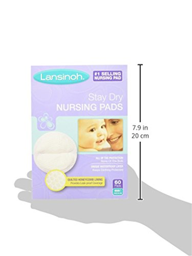 Large Product Image of Lansinoh Stay Dry Disposable Nursing Pads, Number One Selling Breastfeeding Pad For Breastfeeding Mothers, Leak Proof Protection, Maximun Comfort and Discretion, 4 Packs of 60 Count (240 Count)