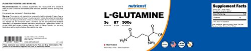 Nutricost L-Glutamine (500 Grams) (Fruit Punch) by Nutricost (Image #5)