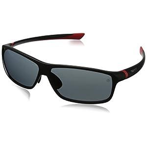 TAG HEUER Unisex-Adult 27 Degree 6024 102 Polarized Rectangular Sunglasses, black, 66 mm