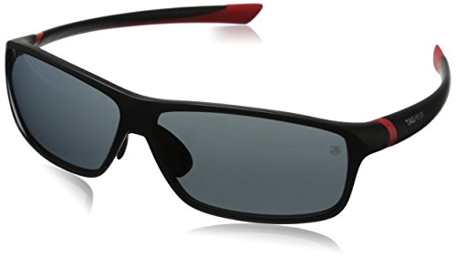 Tag Heuer 27 Degree 6024 102 6024102 Rectangular Sunglasses, Red Matte,Black & Grey Outdoor, 66 - Tag 27 Sunglasses Degree Heuer