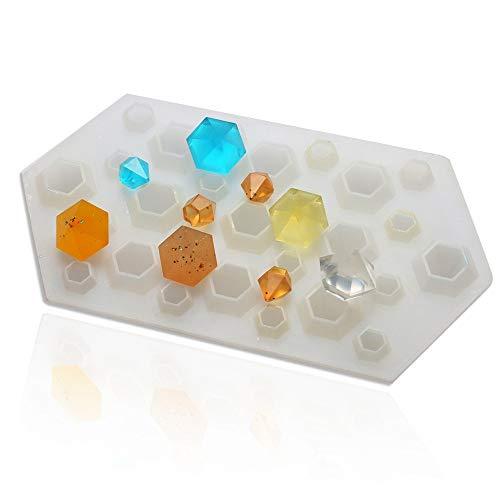 xatos Chocolate Mold Diamond DIY Silicone Stencil Craft Mold Mold Necklace Jewelry Resin Pendant Cupcake Mold Mini Birthday -