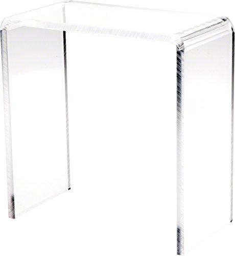 Plymor Brand Clear Acrylic Tall Rectangular Riser, 10