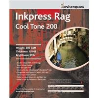 Inkpress Watercolor Rag Paper - Inkpress Rag Cool Tone, 200gsm Double Sided Bright White Matte Cotton Inkjet Paper, 16 mil., 8