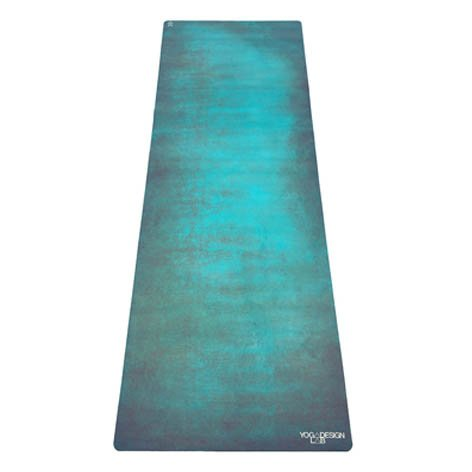 The Combo Yoga Mat. Luxurious, Non-Slip, Mat/Towel Designed to Grip Better w/Sweat! Machine Washable, Eco-Friendly (Aegean, 70 x 24)