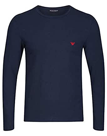Emporio Armani Stretch Knit Short Sleeve T-Shirt Small Marine